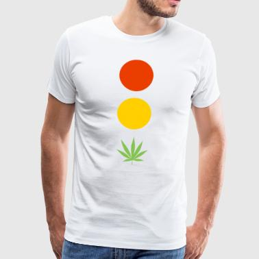 Traffic light hamp leaf legalisering cannabis - Premium-T-shirt herr
