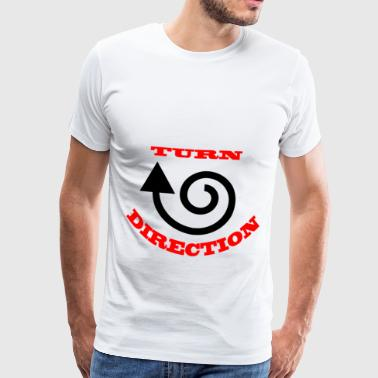 Turn direction - Men's Premium T-Shirt