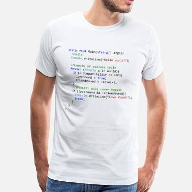 Programmemer Love seen by a C # programmer - Men's Premium T-Shirt