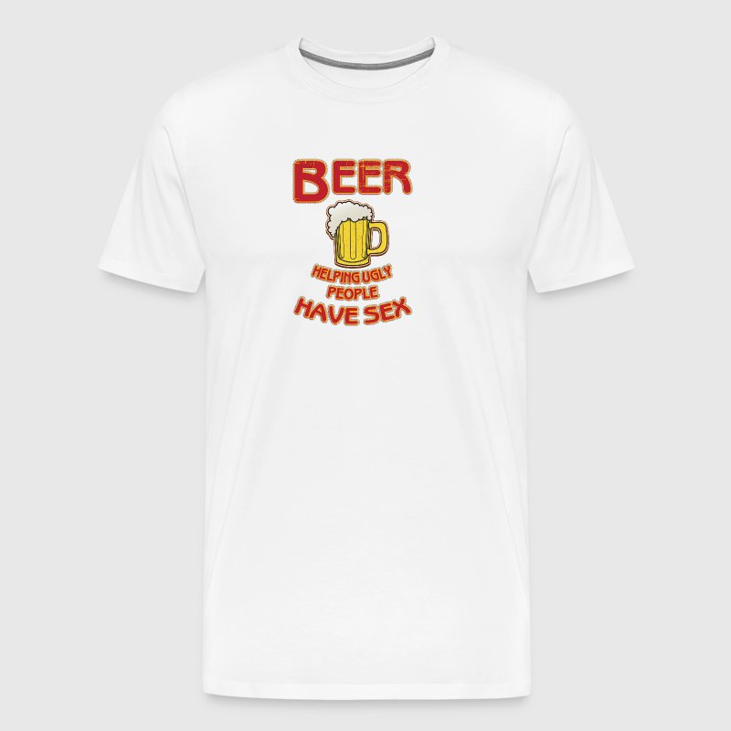 Cool beer Beer helping ugly people have sex - Men's Premium T-Shirt