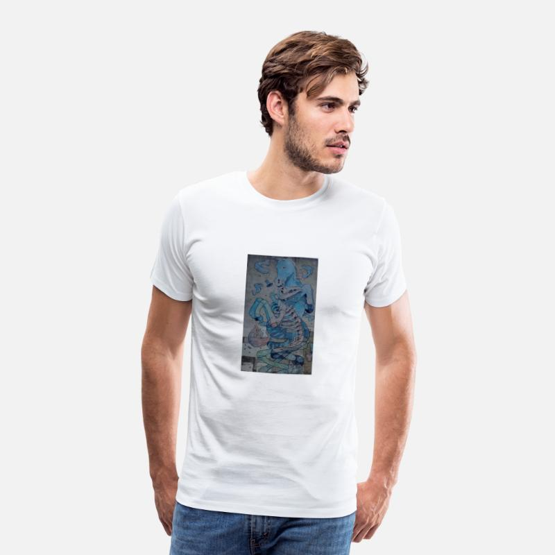 New T-Shirts - Crazy horse graffiti - Men's Premium T-Shirt white