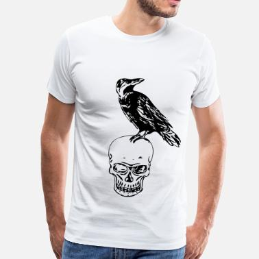 Raven Of Death - Mannen Premium T-shirt