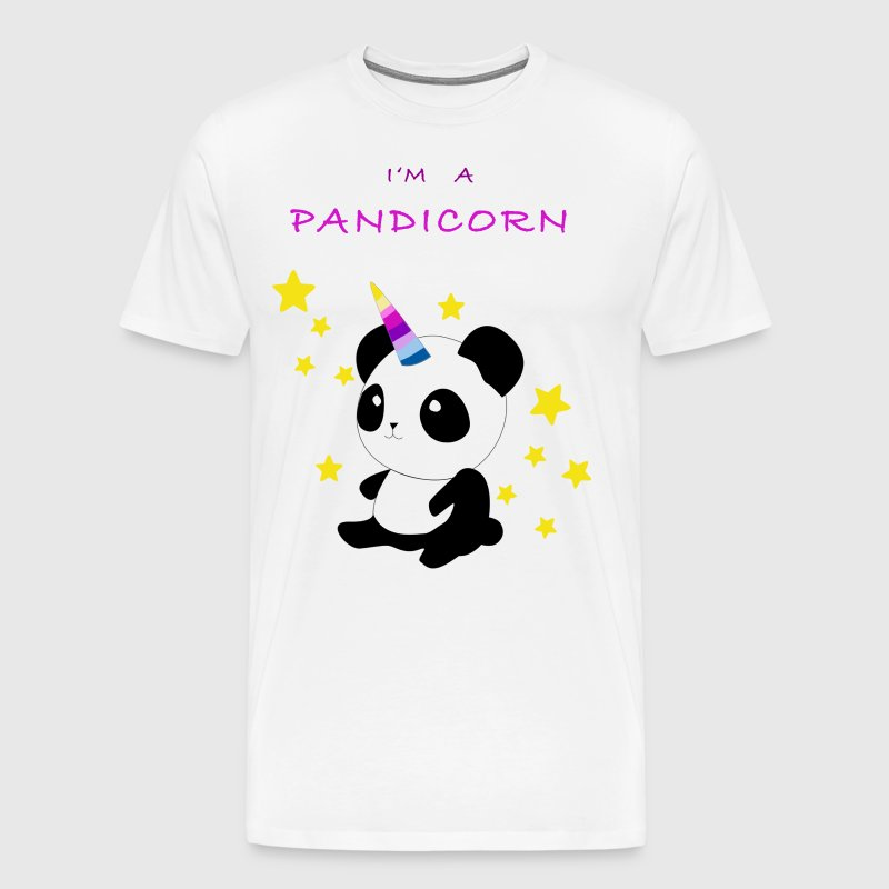 Pandicorn - a unicorn - panda - Men's Premium T-Shirt