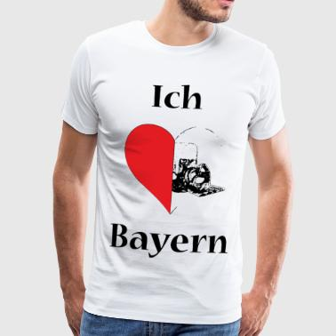 I love Bavaria - black - Men's Premium T-Shirt