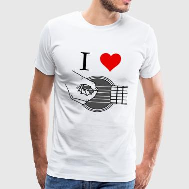 i love music / I love music / I love guitar - Men's Premium T-Shirt