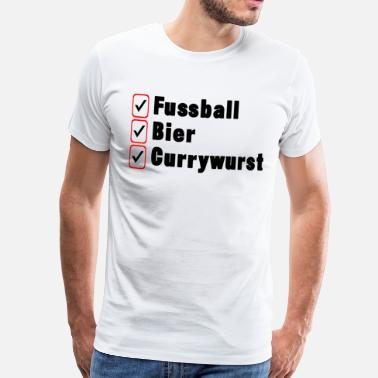 Currywurst Football Beer Currywurst Gift Idea Black - Men's Premium T-Shirt