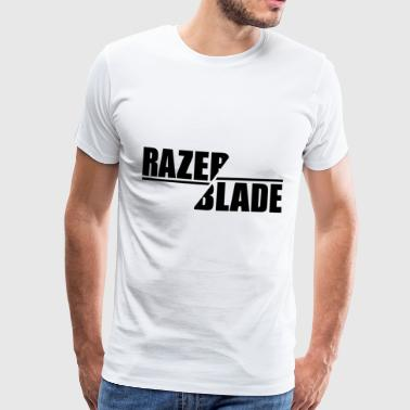 Razer Balde sharp blade cut sword - Men's Premium T-Shirt