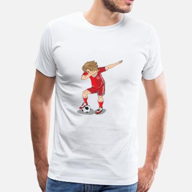 World Cup Denemarken Football Player Dab World Cup - Mannen Premium T-shirt
