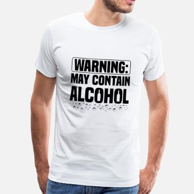 Container BEER: Warning - May Contain Alcohol - Men's Premium T-Shirt