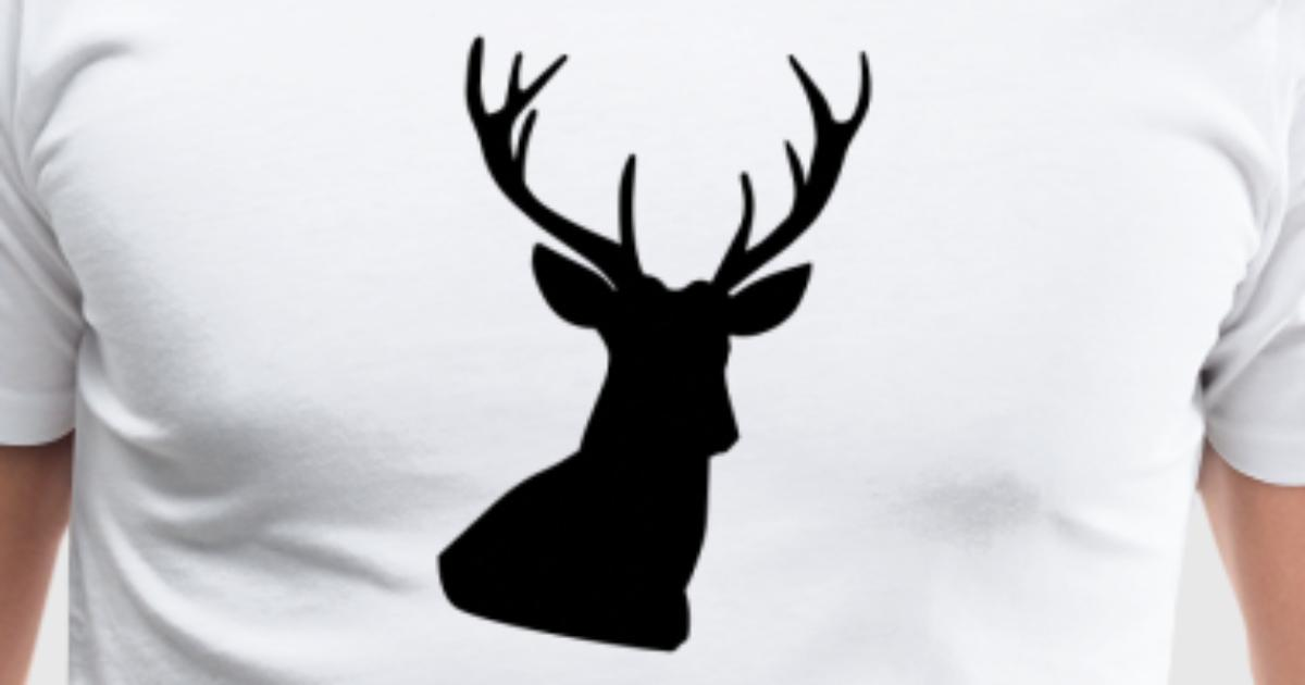 tee shirt t te de cerf spreadshirt. Black Bedroom Furniture Sets. Home Design Ideas