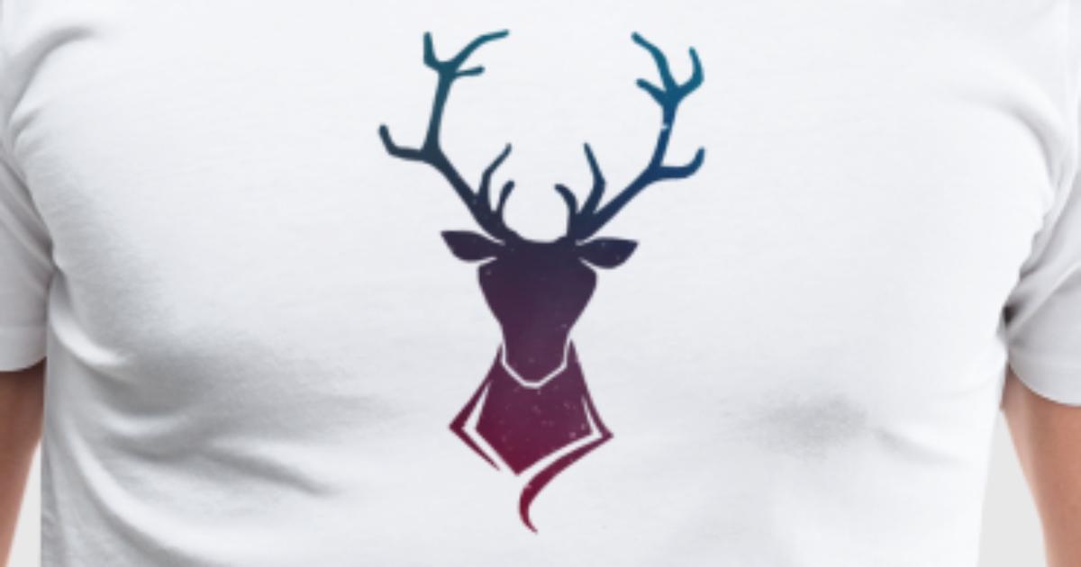 hirsch logo bunt sterne von swissdudedesigns spreadshirt