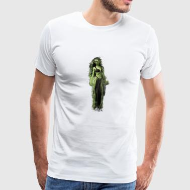 Witch monster brightly glowing - Men's Premium T-Shirt