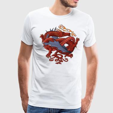 Dragon Dragon tattoo - Herre premium T-shirt
