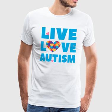 Autism Awareness - Live Love Autism - Men's Premium T-Shirt