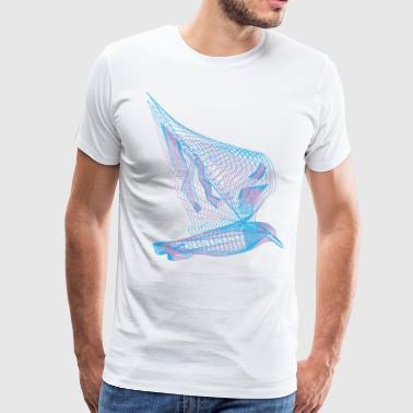 Bird Line Art - Men's Premium T-Shirt
