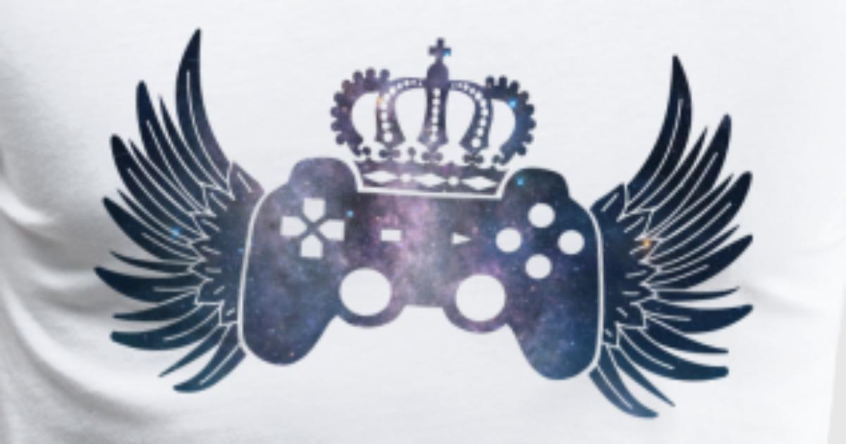 Controller Symbol Controller With Wings And Crown By Kreatif Designs