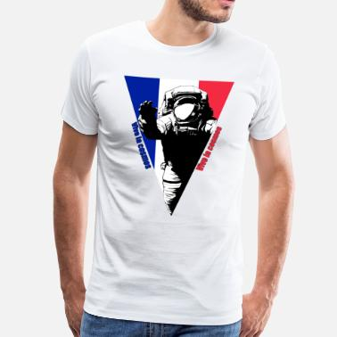 Nasa Vive la cosmos / French astronaut - Men's Premium T-Shirt