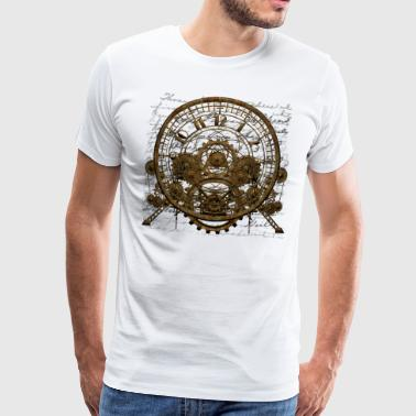 Steampunk Time Machine #1A Men's Premium T-Shirt - Männer Premium T-Shirt