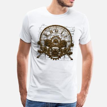 Steampunk Time Machine #1A Men's Premium T-Shirt - T-shirt Premium Homme