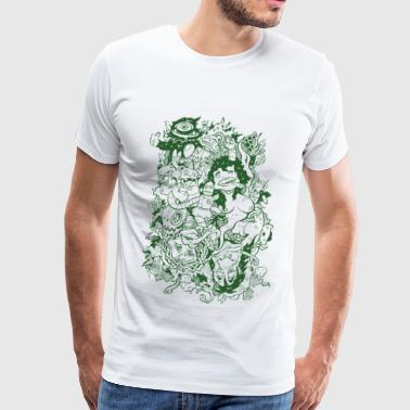 wack_party_outline - Camiseta premium hombre