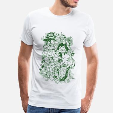 Weed Graffiti wack_party_outline - Men's Premium T-Shirt