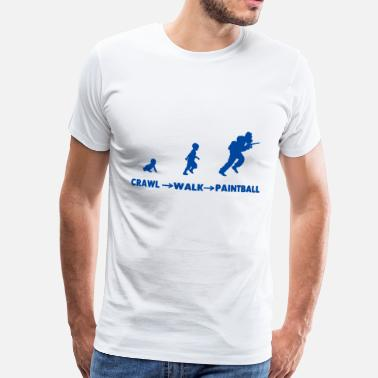 Stomme MTeVrede_CRAW-WALK-PAINTBALL - Men's Premium T-Shirt