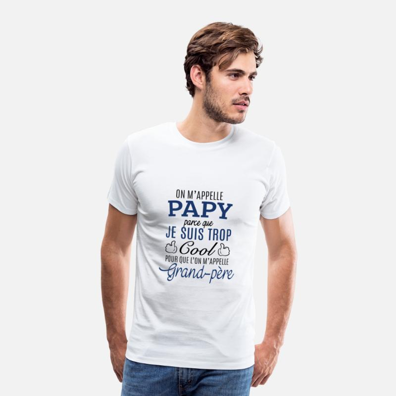 Papy T-shirts - Papy cool - T-shirt premium Homme blanc