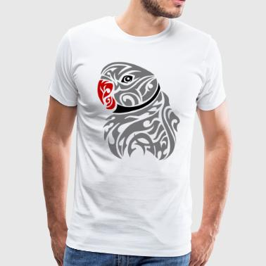 Grey ringneck tattoo - Men's Premium T-Shirt