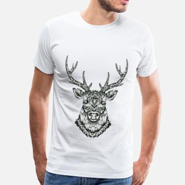 Hipster Cerf Zentangle - T-shirt Premium Homme