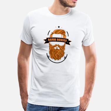 Hipster Barbe rousse - T-shirt Premium Homme