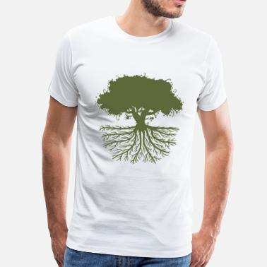 Wurzel tree roots green - Men's Premium T-Shirt
