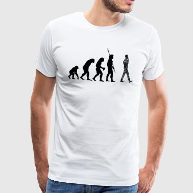 Binary Evolution Cell - Mannen Premium T-shirt