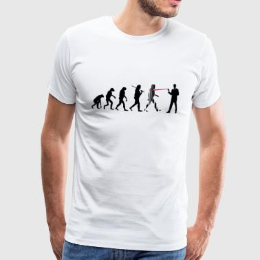 evolution nsa - Premium-T-shirt herr