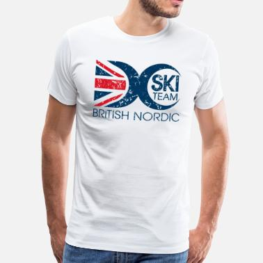 Nordic Skiing British Nordic Ski Team - Logo - Men's Premium T-Shirt