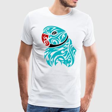 Blue ringneck parrot tattoo - Men's Premium T-Shirt