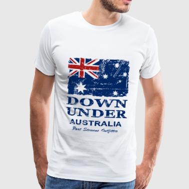 Australien - Down Under - Vintage Look  - Männer Premium T-Shirt