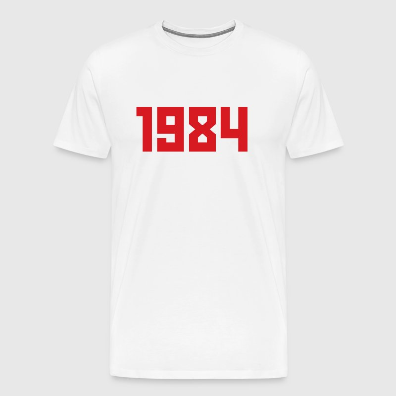 Gosha Rubchinskiy 1984 - White/Red - Men's Premium T-Shirt