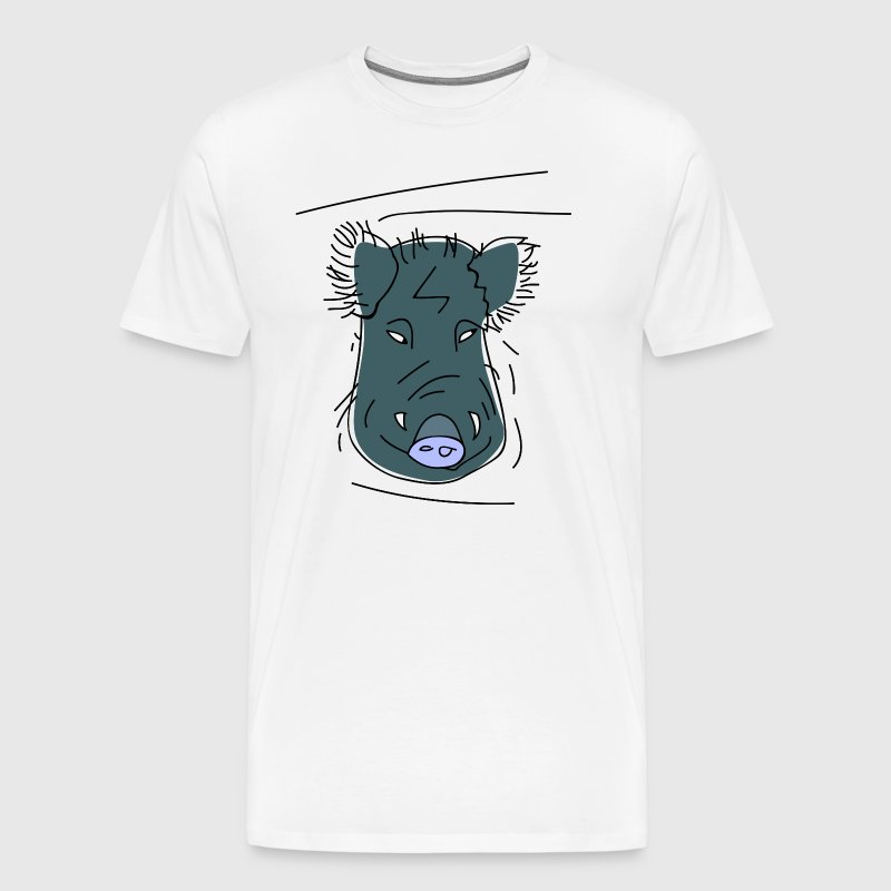 Horny boar (b) - Men's Premium T-Shirt
