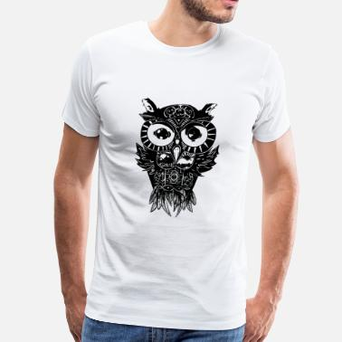 Dimension Dimension Owl - Men's Premium T-Shirt
