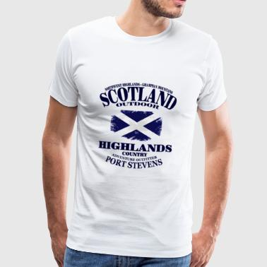 Highlands - Scotland Vintage Flag - Männer Premium T-Shirt