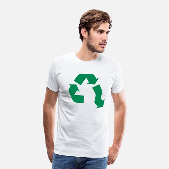 Recycling T-Shirts - No Recycling - Men's Premium T-Shirt white