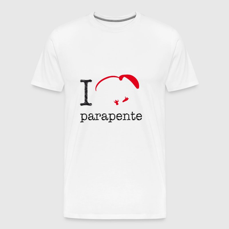 I love parapente (red) - T-shirt Premium Homme