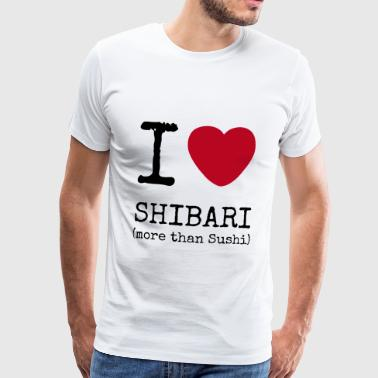 I Love Shibari - more than Sushi - Männer Premium T-Shirt