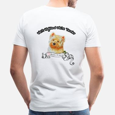 Westie West Highland White Terrier - Männer Premium T-Shirt