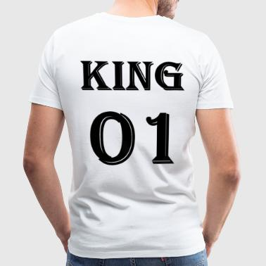 King 01 T-shirt, King en Queen Partner T-shirts - Mannen Premium T-shirt