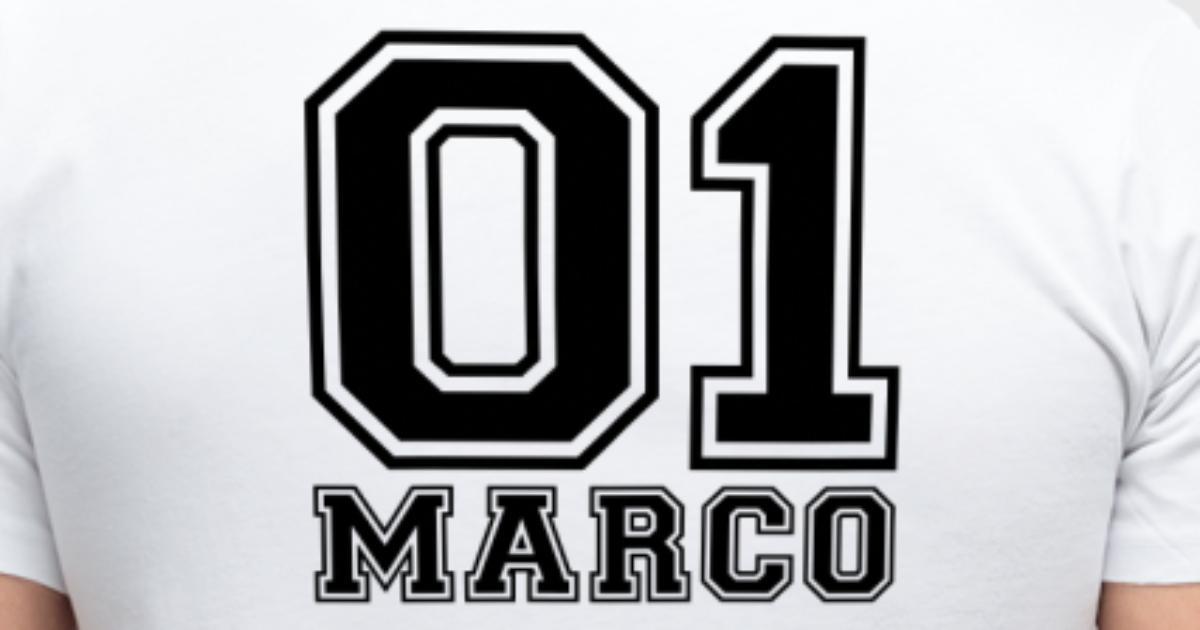 Marco - Nombre por dunkelbuntes | Spreadshirt