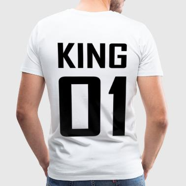 XXL LOGO KING 01 schwarze/black - Partnerlook - Männer Premium T-Shirt