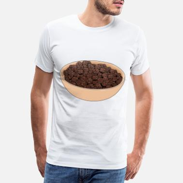 Cereal Chocolate flakes gift for breakfast with milk - Men's Premium T-Shirt