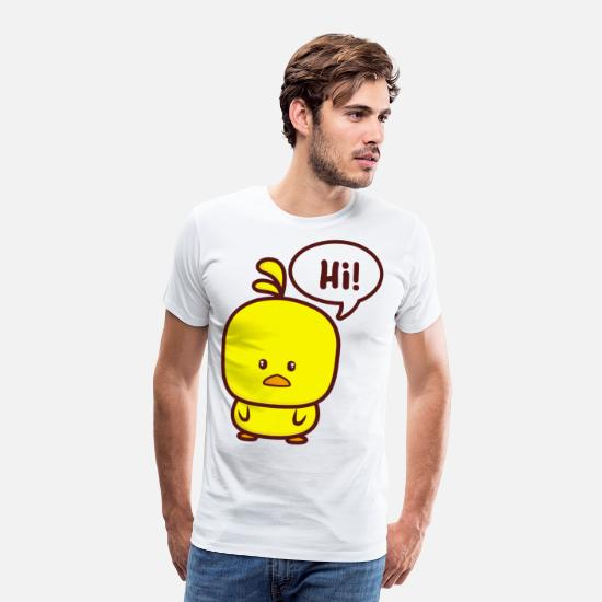 Gift Idea T-Shirts - Hello chicks - Men's Premium T-Shirt white