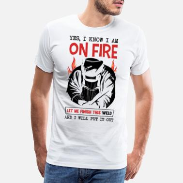 Mechanic Funny Welder Quote There is no app for di - Men's Premium T-Shirt